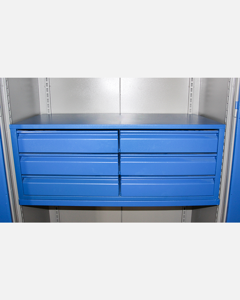 6 Telescopic Drawers in Tool Cabinet
