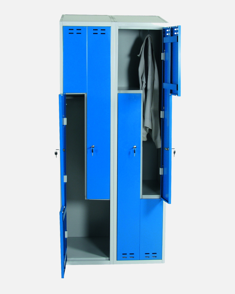 Clothing Cabinet, Blue/Grey 4 d/Z-Model