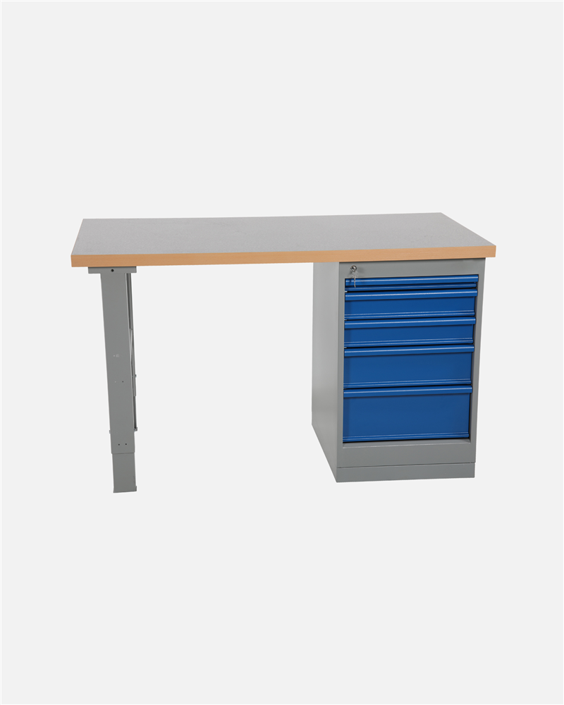 Worktable With Drawer Unit 5 Drawers 1600 mm Vinyl