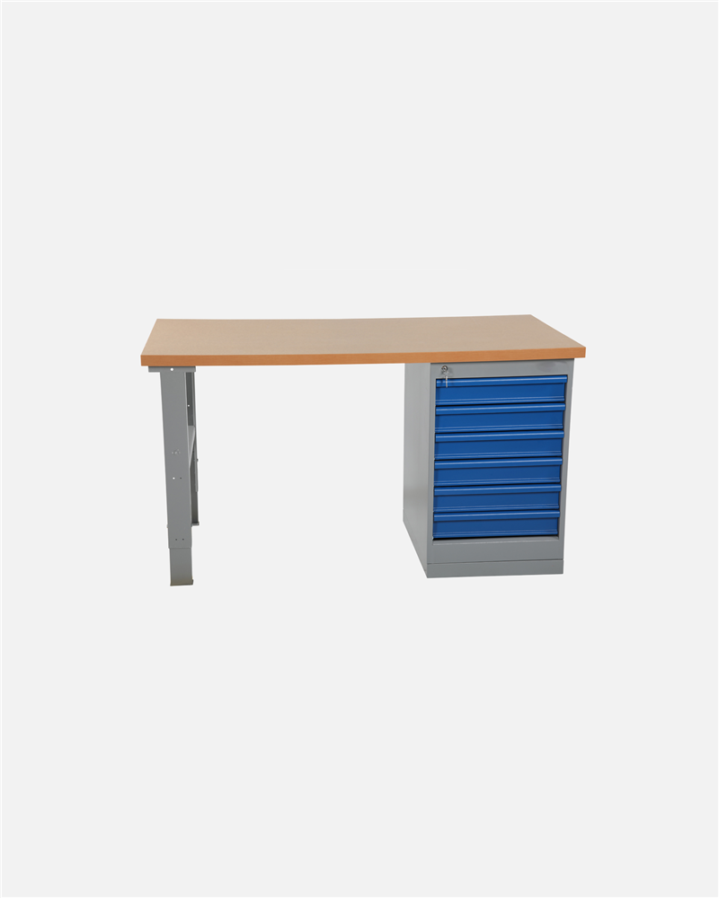 Worktable With Drawer Unit 6 Drawers 2000mm Board