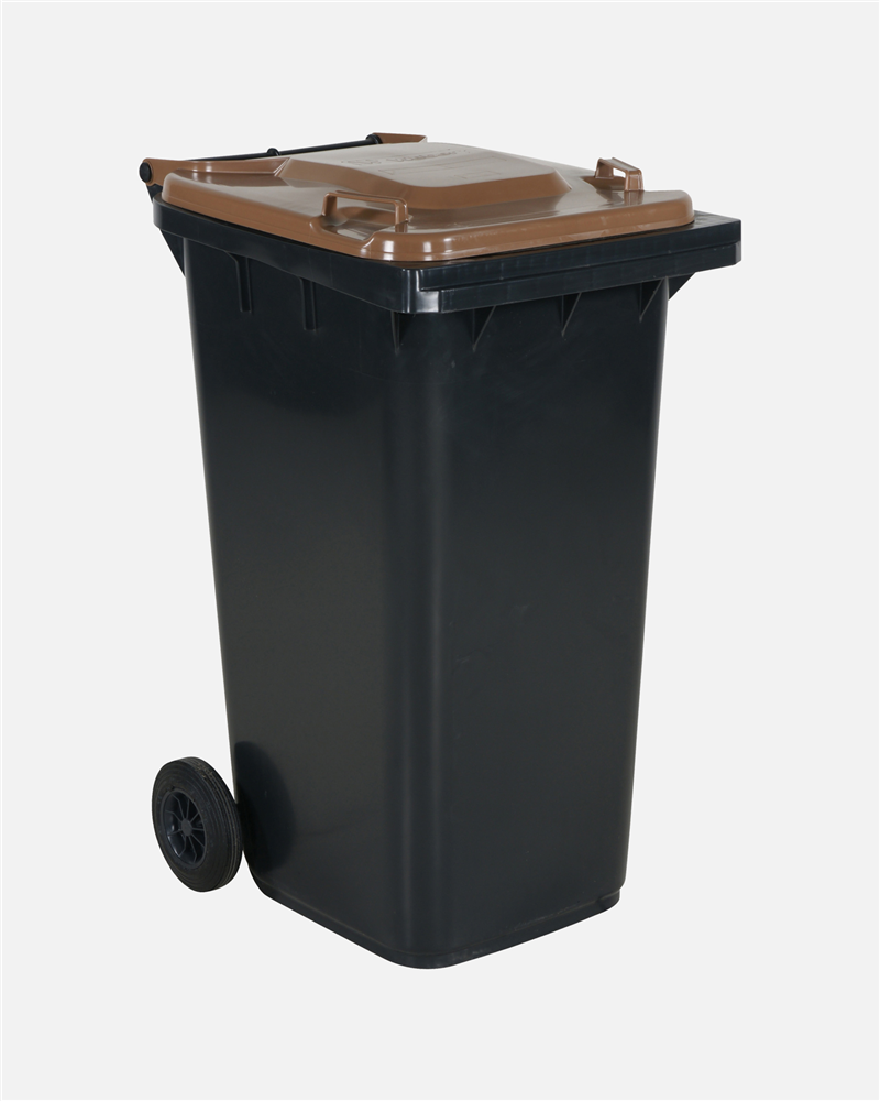 Refuse Bin 240 Litre Brown Lid